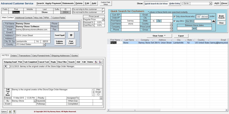 Advanced Customer Service | Barney Stone Software