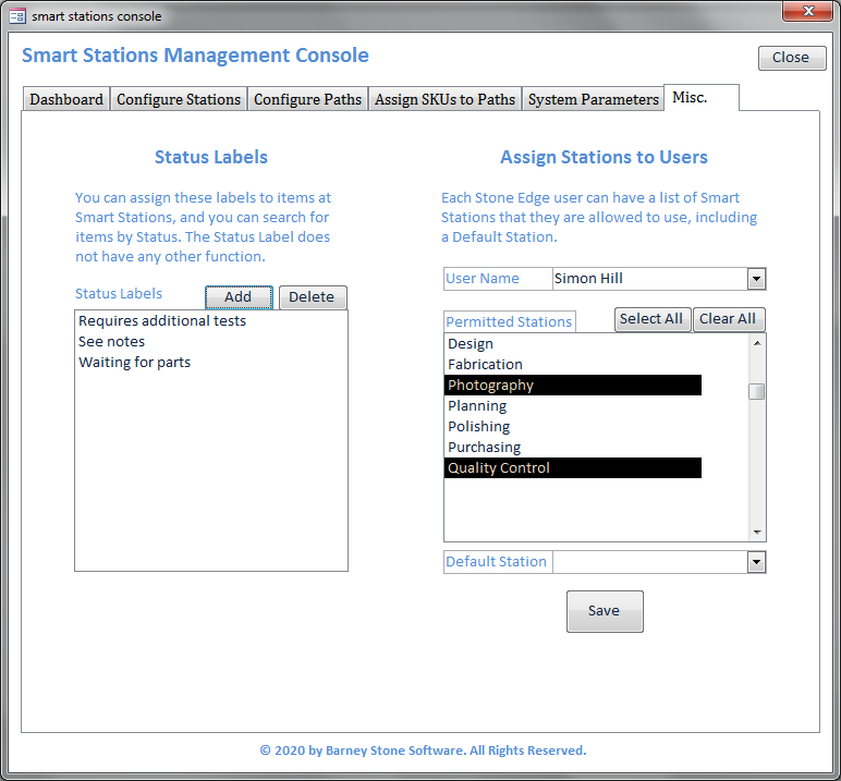 Smart Stations Console Misc